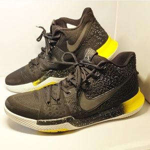 Kyrie 3 Nike Black and Yellow Men's Shoes